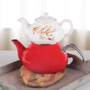 Keramika 2 Parça Sonbahar Tomurcuk Çay Seti