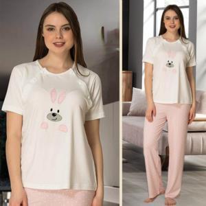 Effort Pembe Hamile Lohusa Pijama Takımı 2074
