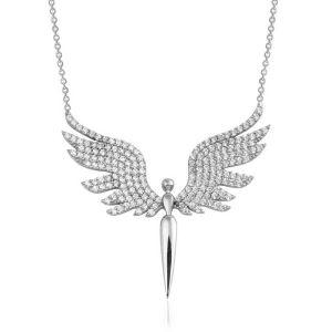 Gümüş Mikail Meleği Bayan Kolye