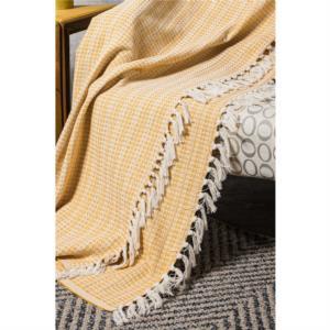 Doreline Cubierta Lüx Çift Kişilik Pike 96-019-005 Hardal Sarı