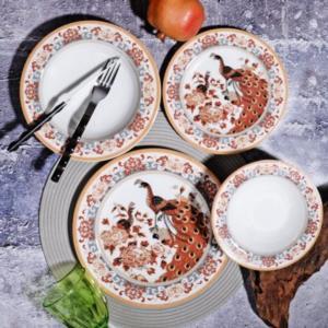 Kosova 24 Parça Porselen Yemek Takımı POR-265 SARI GEYŞA