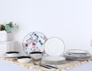 Acar 24 Parça Porselen Yemek Takımı PORWM-009630/2