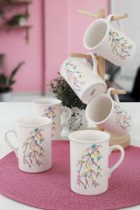 Keramika İlkbahar Tomurcuk Kupa 10 Cm 6 Adet