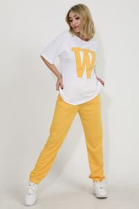 Wpr W Nakışlı Kısa Kol Kadın Eşofman Takımı