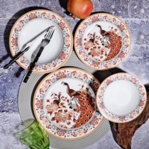 Kosova 24 Parça Porselen Yemek Takımı POR-265 24 SARI GEYŞA
