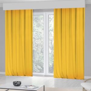 Kozzy Home Tek Kanat Sarı Fon Perde -RFE0422