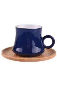 Bambum Harem 6 Kişilik Kahve Fincan Takımı Saray Mavi B0925