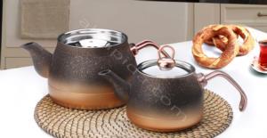 Fms Granit Orta Boy Bakır Çaydanlık- 9016
