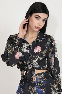 Wpr Çiçek Desen Pantolon Gömlek Kadın Yazlık İkili Takım