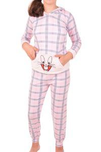Nicoletta Kız Çocuk Pijama Takımı Uzun Kollu Kapüşonlu Kulaklı