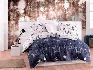 Stars Çift Kişilik Uyku Seti Lacivert Beyaz