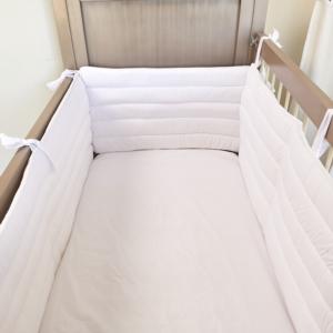 Aybi Baby 3 Parça Basic Beyaz 70 x 130 cm Kenar Koruma Seti 4007