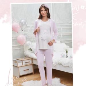 Flz Dowry 31-283 Bayan Pijama Takımı Pembe
