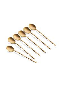 Çay Kaşığı 6 Parça - 13 Cm Mat Gold