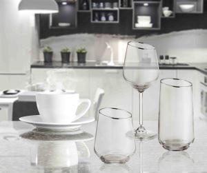 Gina Su Bardağı Kısa 6 Lı Set - Gümüş