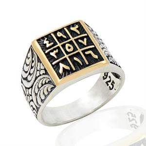 Gümüş Ebced Hesabı Erkek Yüzük EY267