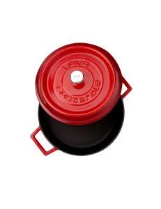 Lava Döküm Çok Amaçlı Yayvan Tencere Trendy Çap (Ø) 32 cm - Kırmızı