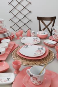 Keramika Gül Trend Kahvaltı Takımı 50 Parça 6 Kişilik