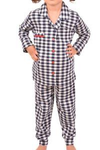 Nicoletta Kız Çocuk Pijama Takımı Uzun Kollu Düğmeli