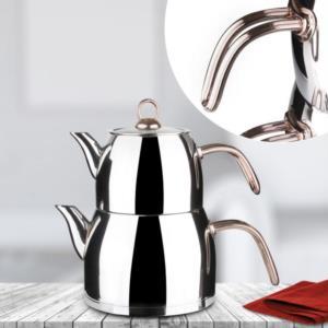 Falez Orta Boy Çaykolik Çaydanlık Seti- CAY 3008