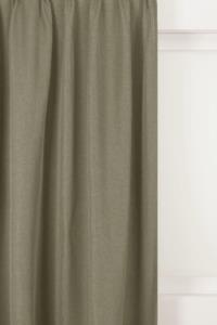 Belle Cose Keten Görünümlü 140x270cm Tek Kanat Taş Rengi Fon Perde