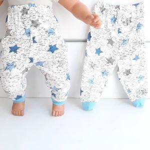 Yıldızlı Mavi Tek Alt Bebek Penye Pijama