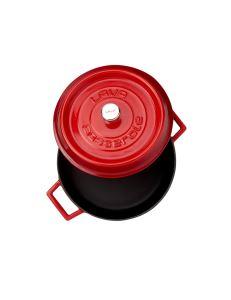 Lava Döküm Çok Amaçlı Yayvan Tencere Trendy Çap (Ø) 28 cm - Kırmızı