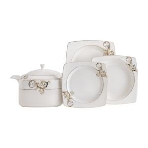 Güral Porselen 85 Parça Kare Caroline Bone Yemek Takımı 5430