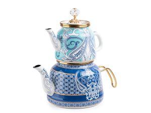 Emaye Diamond Blue Çaydanlık