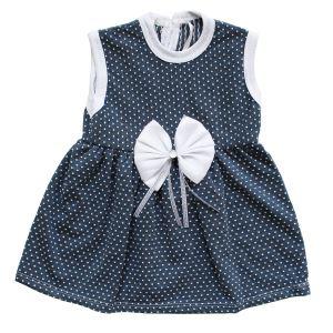 Laci Beyaz Noktalı Kız Bebek Elbise