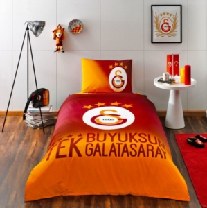 Taç 3607 Lisanslı Brf Tek Kişilik Nevresim Takımı Galatasaray 4.Yıldız