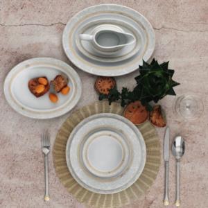 Güral Porselen 84 Parça Yuvarlak Tolstoy Yemek Takımı AU 5574