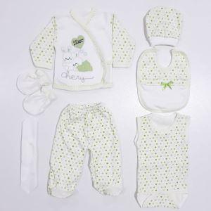 Chery Yeşil 7 li Bebek Hastane Çıkış Seti