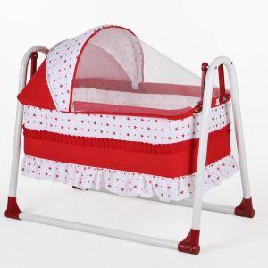 Bebegen Elit Portatif Sallanır Bebek Beşik Kırmızı