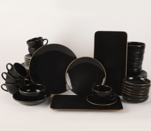 Keramika Ege Gold Yemek/Kahvaltı Takımı 44 Parça 6 Kişilik