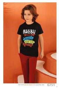 Güryıldız 6751 Kısa Kollu Erkek Çocuk Pijama Takımı