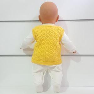 Triko Sarı Bebek Yelek