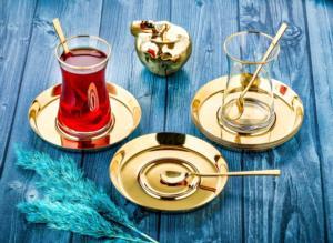 Özlife Mess 6 Parça Gold Çay Tabağı- 865