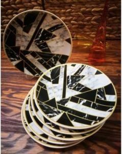 Hülger Kırık Ayna Pasta Tabağı 6