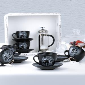 Keramika Vintage House Çay Takımı 12 Parça 6 Kişilik