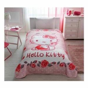 Taç Kristal Tek Kişilik Lisanslı Hello Kitty Rose Battaniye