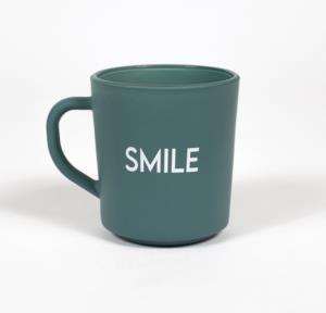 Rakle Motto Smile Cam Kupa Bardak Yeşil