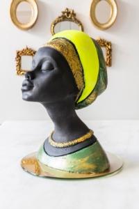 Arma House Dekoratif Afrikalı Kadın Biblo (2)