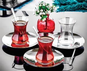 Özlife Ela 6 Parça Sade Çay Tabağı- 820
