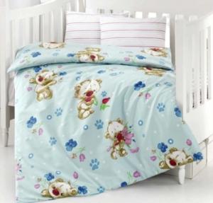 Altınbaşak Puffy Mavi Bebek Uyku Seti