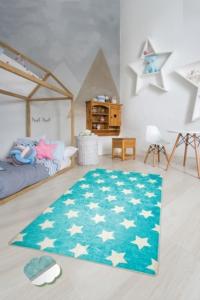 Chilai Home Yıldız Mavi Çocuk Halısı