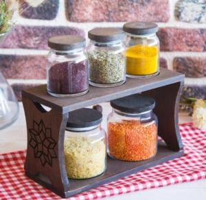 Joy Kitchen Hıtıt 5Li Kavanoz Seti Venge Renkli - Motifli 3K2O UP00341