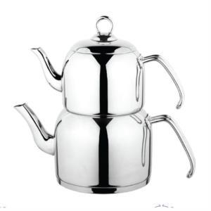 Özkent Menekşe Sade Mini Boy Çaydanlık Çelik Sap K-305