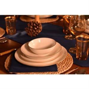 Bambum Diva 24 Parça Porselen Yemek Takımı Altın Yaldızlı