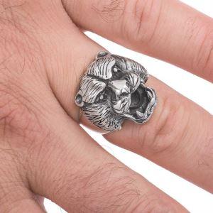 Gümüş Puma Kafası Erkek Yüzük